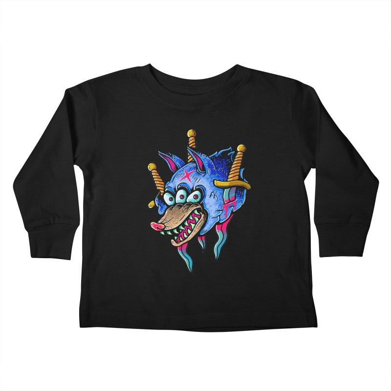 Evil Wolf Kids Toddler Longsleeve T-Shirt by villainmazk's Artist Shop