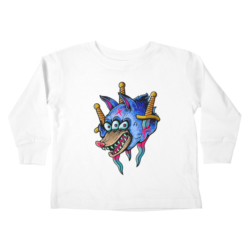 Evil Wolf Kids Toddler Longsleeve T-Shirt by villainmazk's Artist Shop