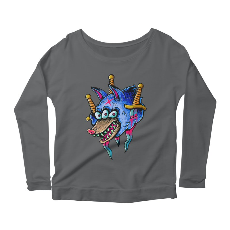 Evil Wolf Women's Scoop Neck Longsleeve T-Shirt by villainmazk's Artist Shop