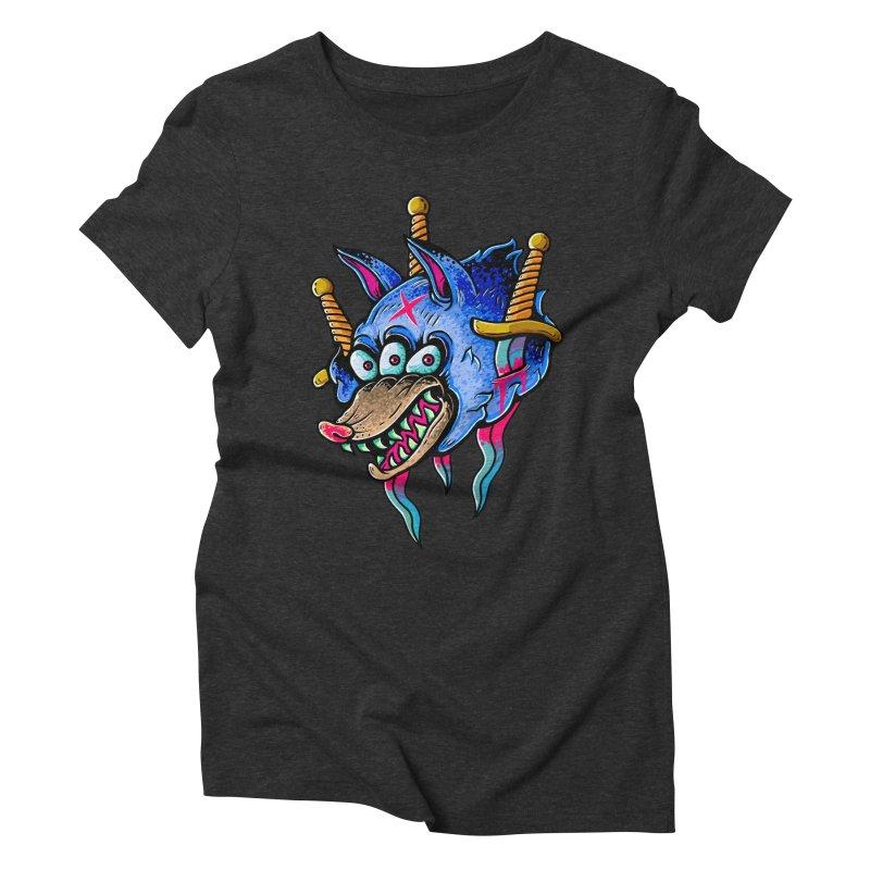 Evil Wolf Women's Triblend T-Shirt by villainmazk's Artist Shop