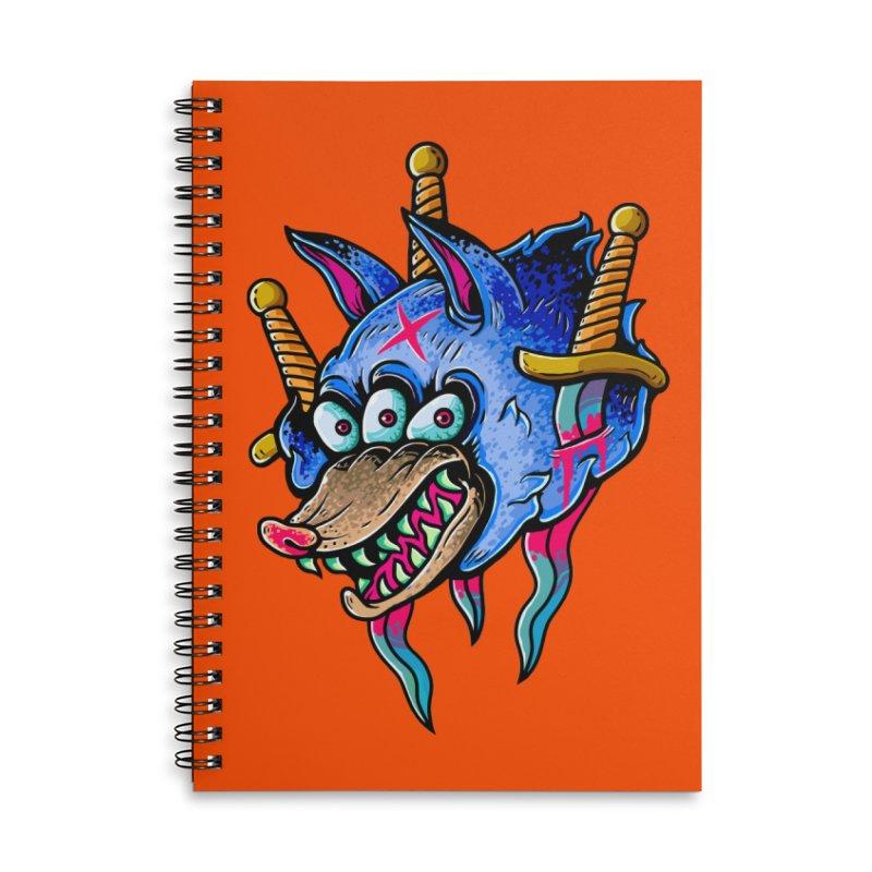 Evil Wolf Accessories Lined Spiral Notebook by villainmazk's Artist Shop