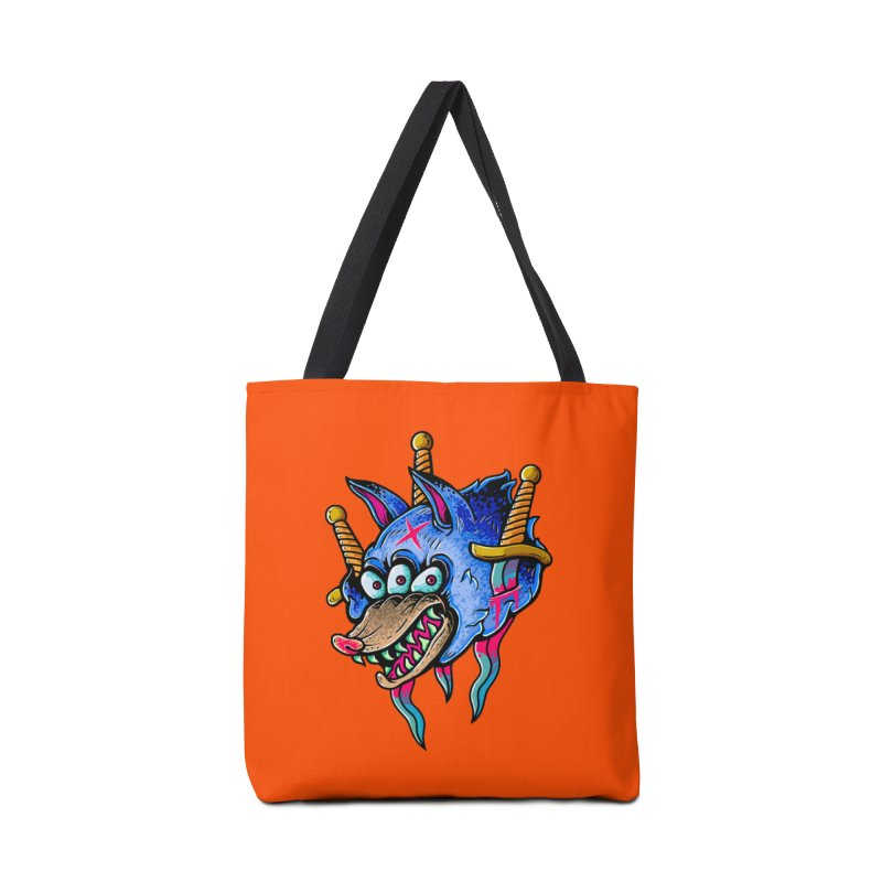 Evil Wolf Accessories Tote Bag Bag by villainmazk's Artist Shop