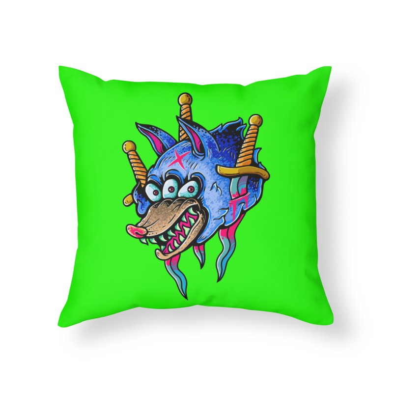 Evil Wolf Home Throw Pillow by villainmazk's Artist Shop