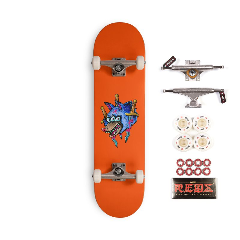 Evil Wolf Accessories Complete - Pro Skateboard by villainmazk's Artist Shop