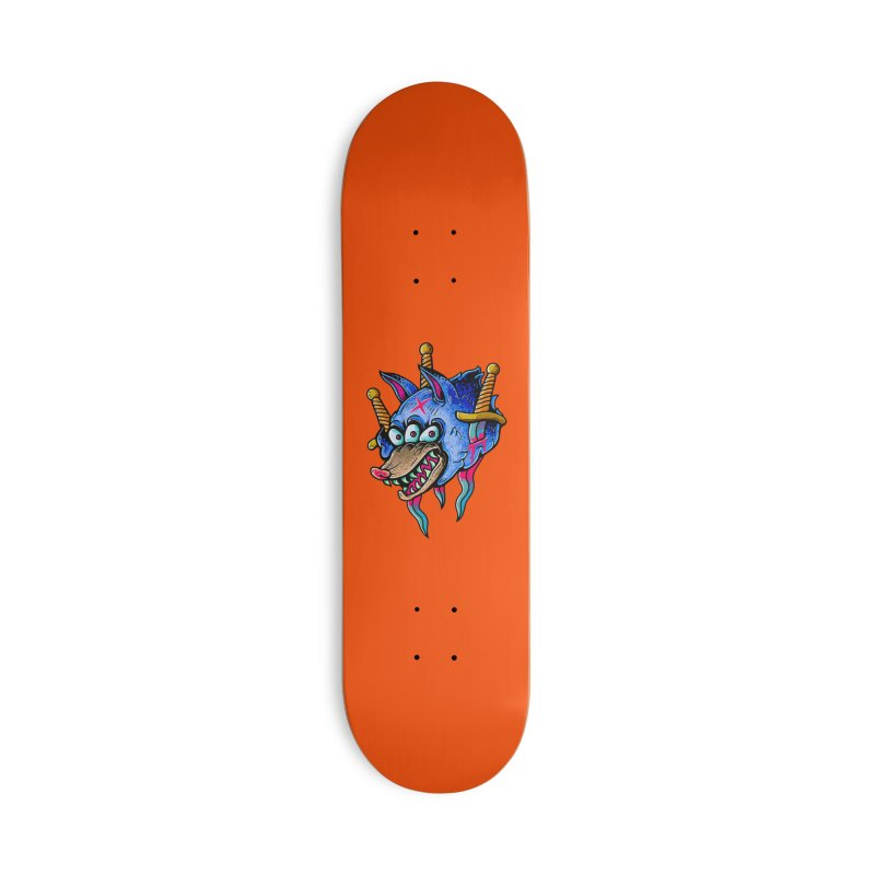 Evil Wolf Accessories Skateboard by villainmazk's Artist Shop