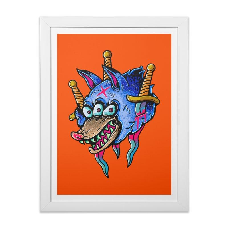 Evil Wolf Home Framed Fine Art Print by villainmazk's Artist Shop
