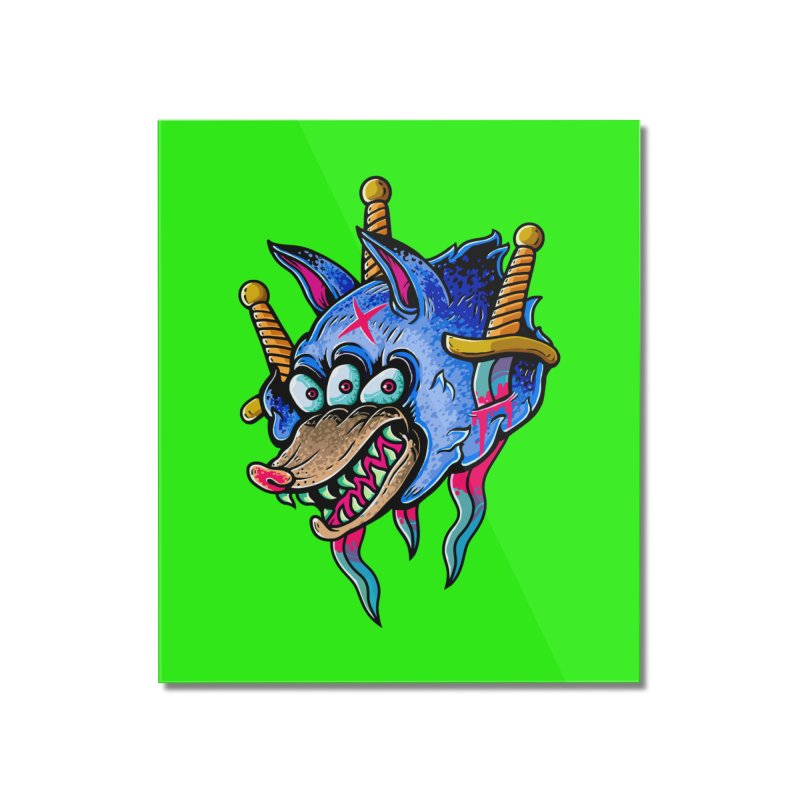 Evil Wolf Home Mounted Acrylic Print by villainmazk's Artist Shop