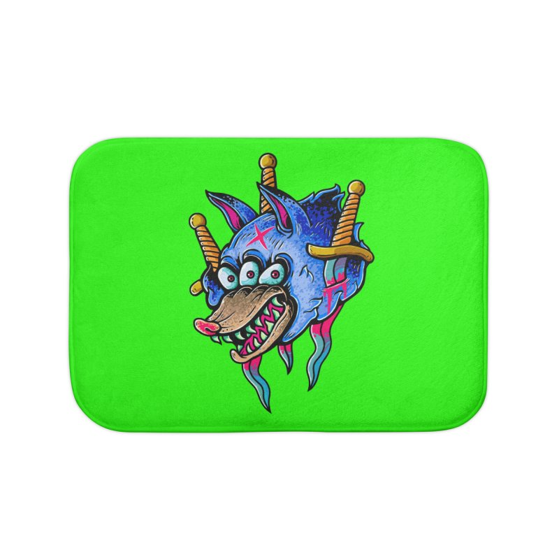 Evil Wolf Home Bath Mat by villainmazk's Artist Shop
