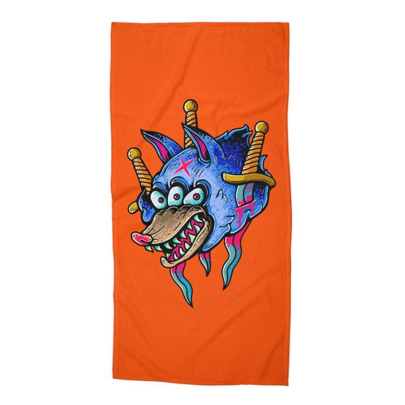 Evil Wolf Accessories Beach Towel by villainmazk's Artist Shop