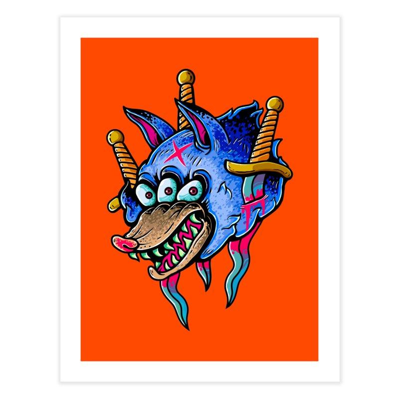 Evil Wolf Home Fine Art Print by villainmazk's Artist Shop