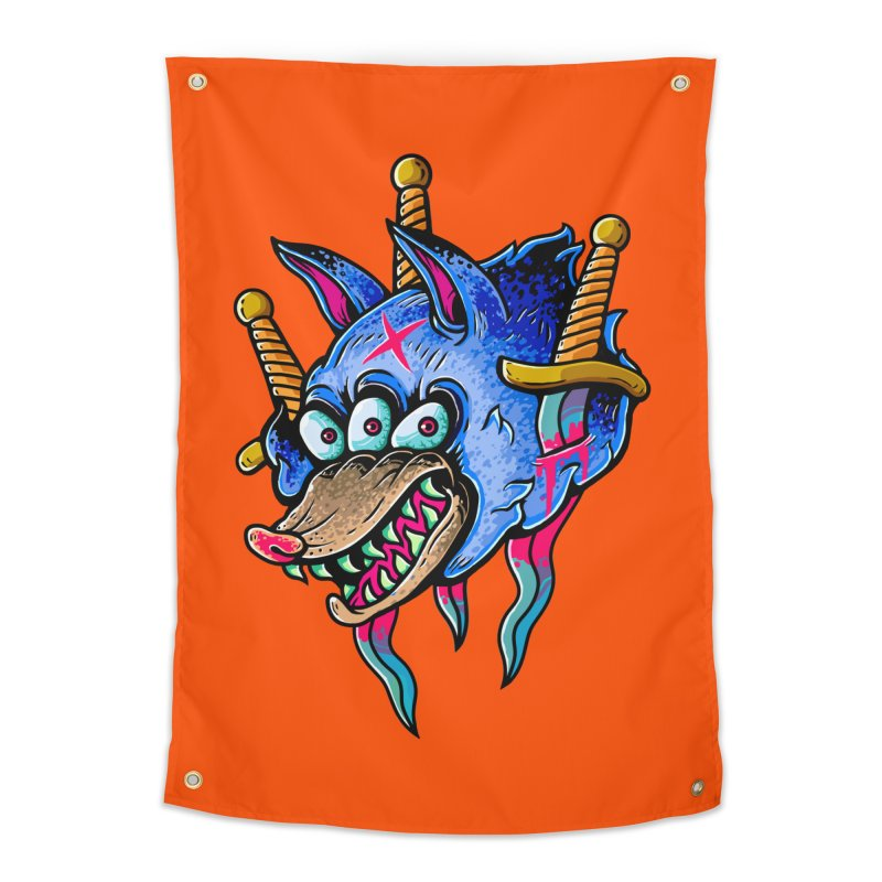 Evil Wolf Home Tapestry by villainmazk's Artist Shop