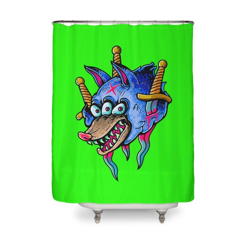 Evil Wolf Home Shower Curtain by villainmazk's Artist Shop
