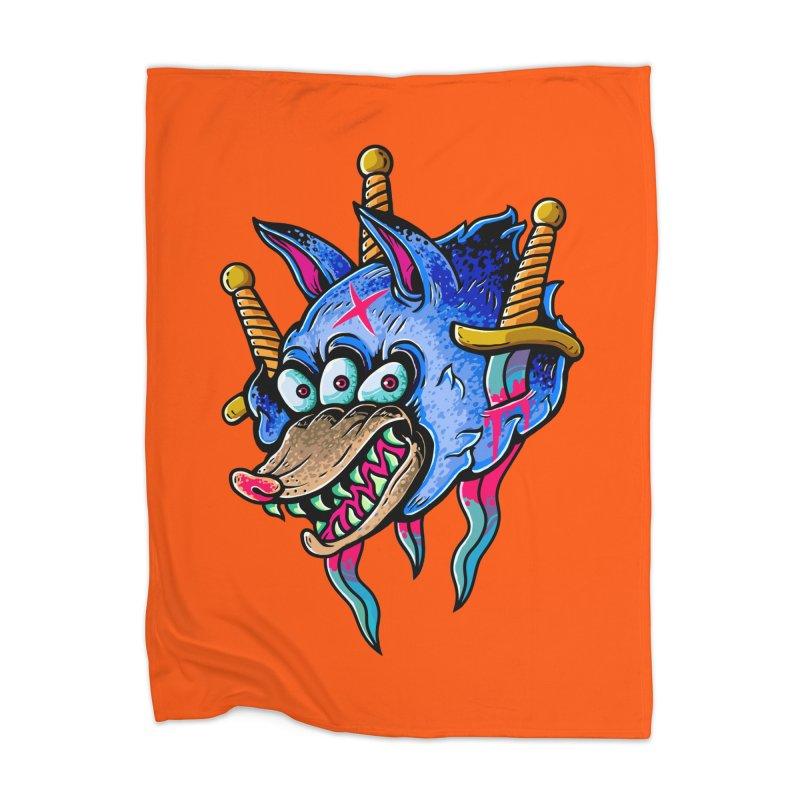 Evil Wolf Home Blanket by villainmazk's Artist Shop