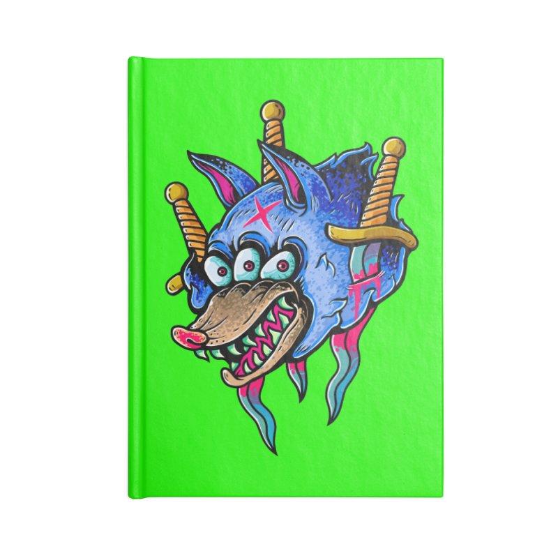 Evil Wolf Accessories Blank Journal Notebook by villainmazk's Artist Shop