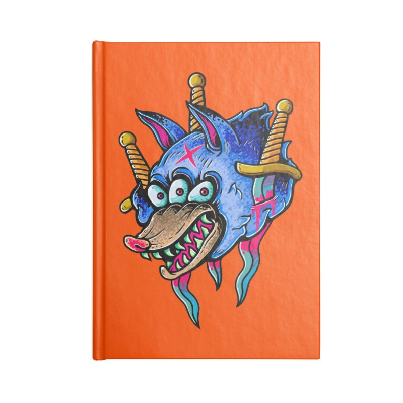 Evil Wolf Accessories Lined Journal Notebook by villainmazk's Artist Shop
