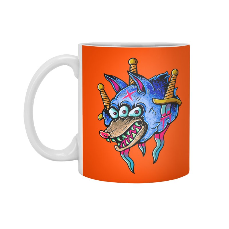 Evil Wolf Accessories Standard Mug by villainmazk's Artist Shop