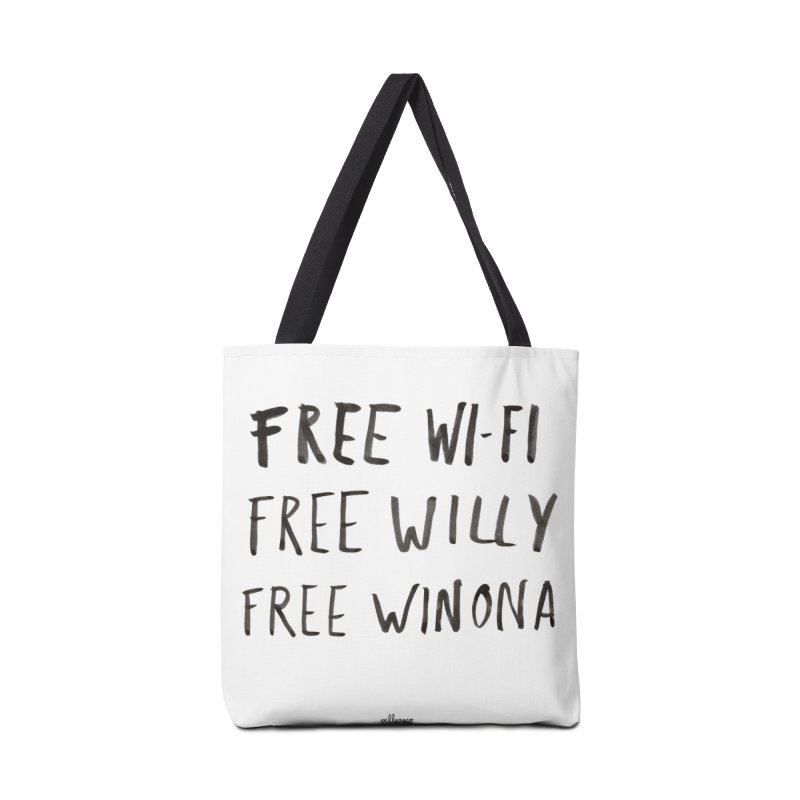FREE WIFI, FREE WINONA Accessories Tote Bag Bag by villaraco's Artist Shop
