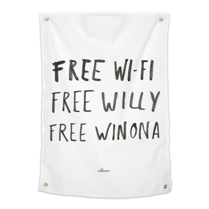 FREE WIFI, FREE WINONA Home Tapestry by villaraco's Artist Shop