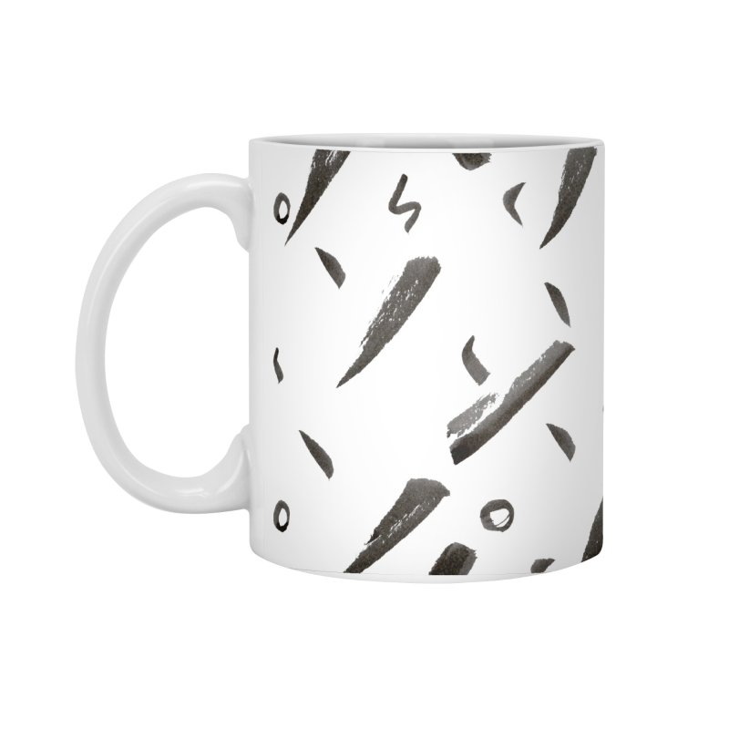 Brushes Pattern Accessories Standard Mug by villaraco's Artist Shop