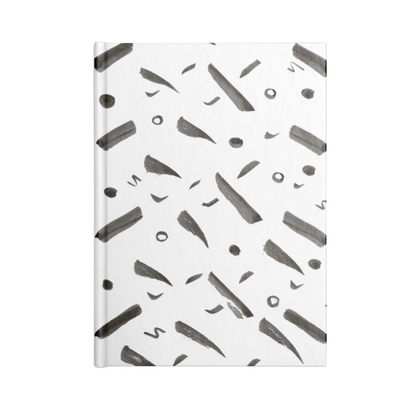 Brushes Pattern Accessories Notebook by villaraco's Artist Shop