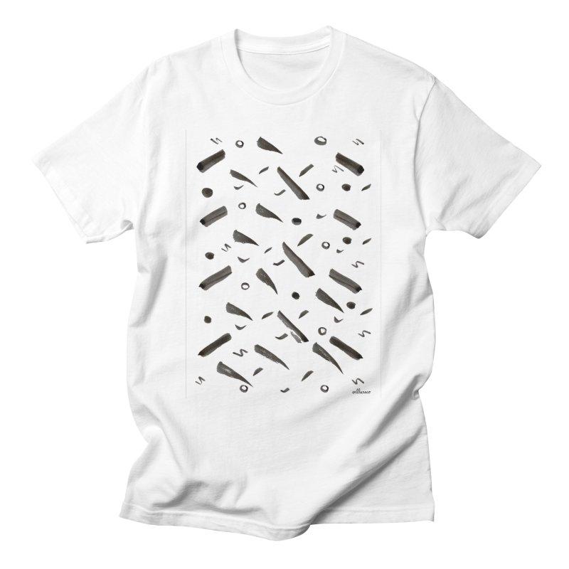 Brushes Pattern Men's T-Shirt by villaraco's Artist Shop