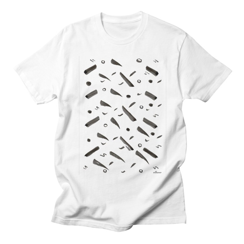 Brushes Pattern Men's T-Shirt by villaraco's Artist Shop