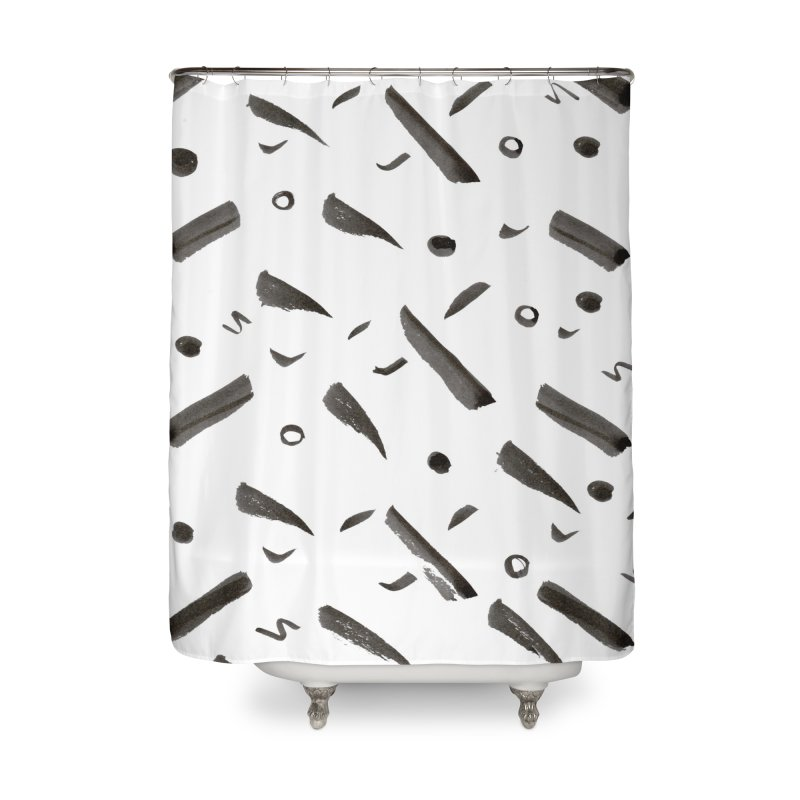 Brushes Pattern Home Shower Curtain by villaraco's Artist Shop
