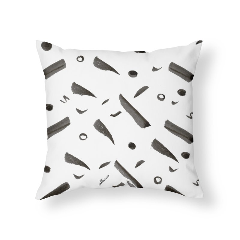 Brushes Pattern Home Throw Pillow by villaraco's Artist Shop