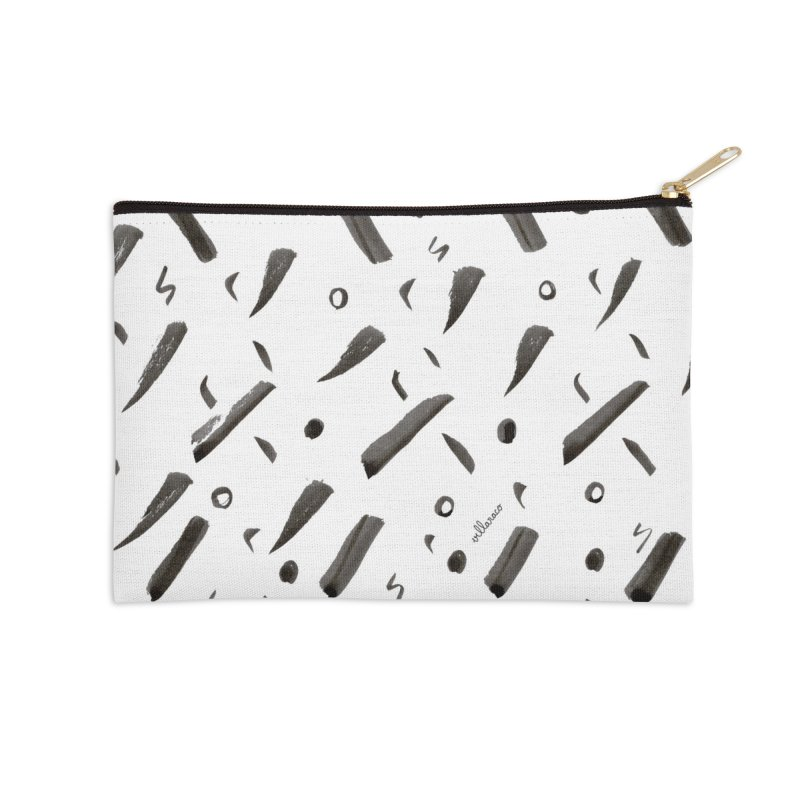 Brushes Pattern Accessories Zip Pouch by villaraco's Artist Shop