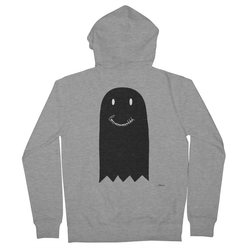 Boooh Men's French Terry Zip-Up Hoody by villaraco's Artist Shop