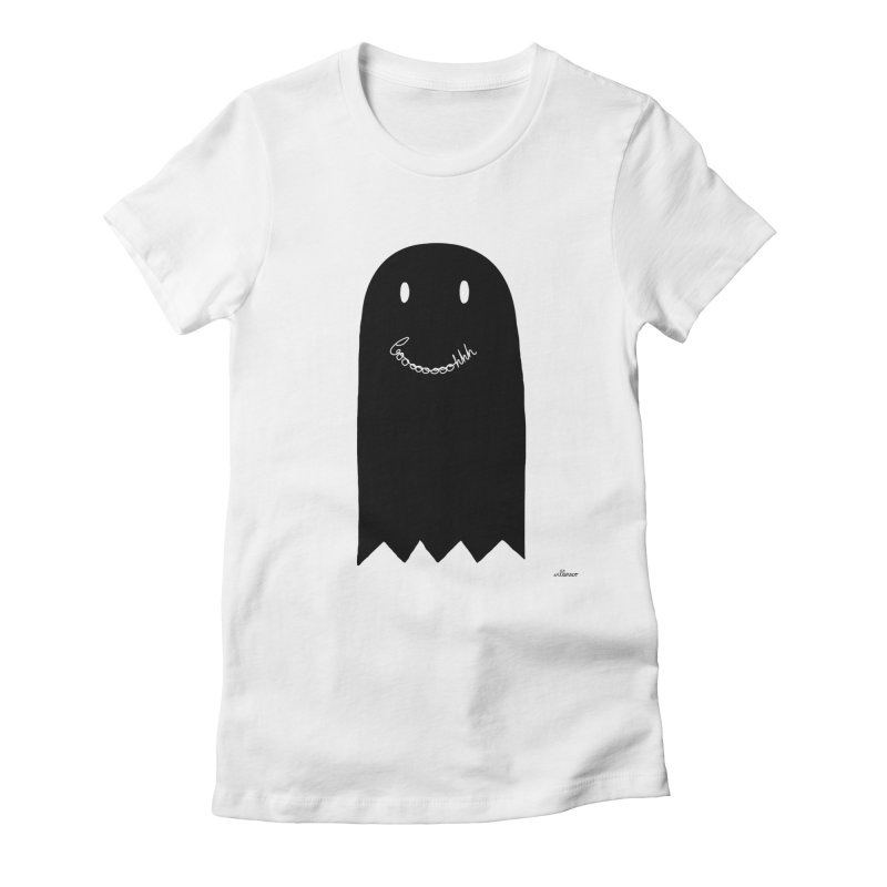 Boooh Women's Fitted T-Shirt by villaraco's Artist Shop