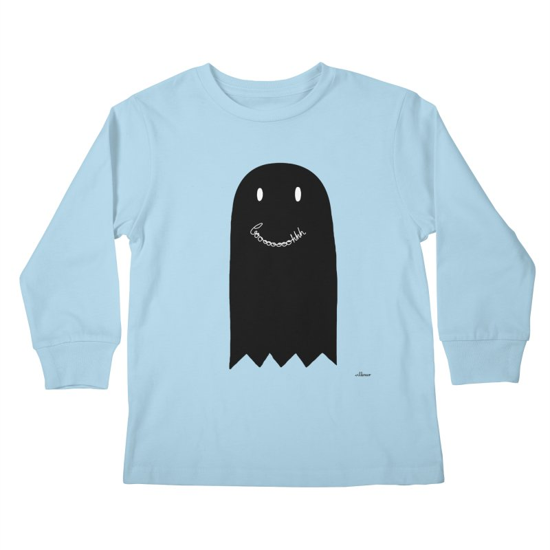 Boooh Kids Longsleeve T-Shirt by villaraco's Artist Shop