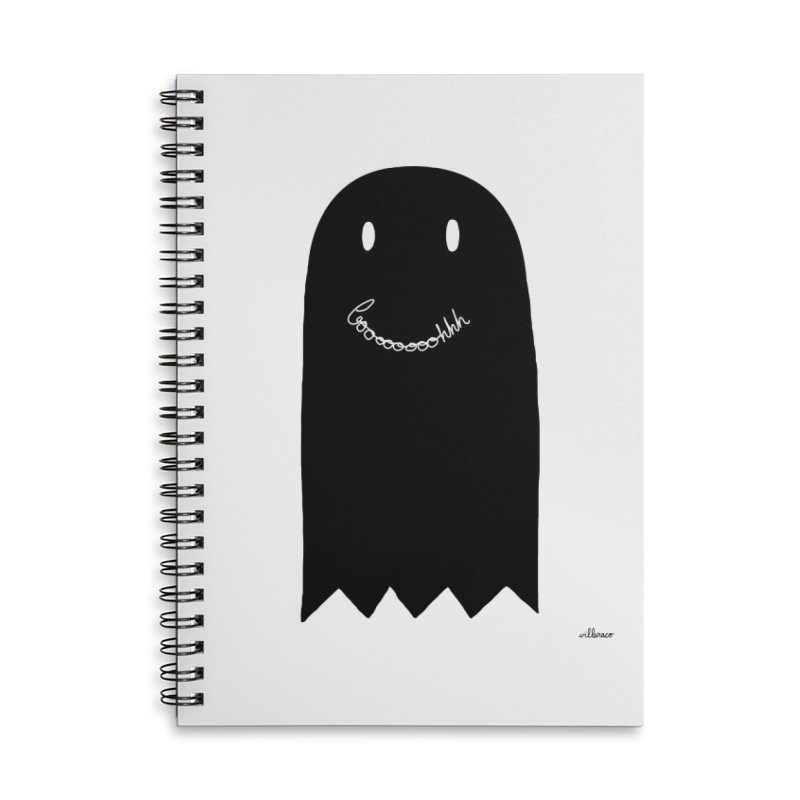 Boooh Accessories Lined Spiral Notebook by villaraco's Artist Shop
