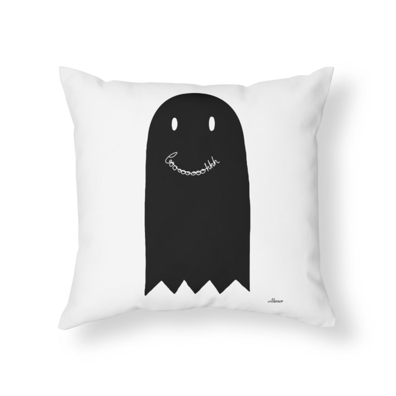 Boooh Home Throw Pillow by villaraco's Artist Shop