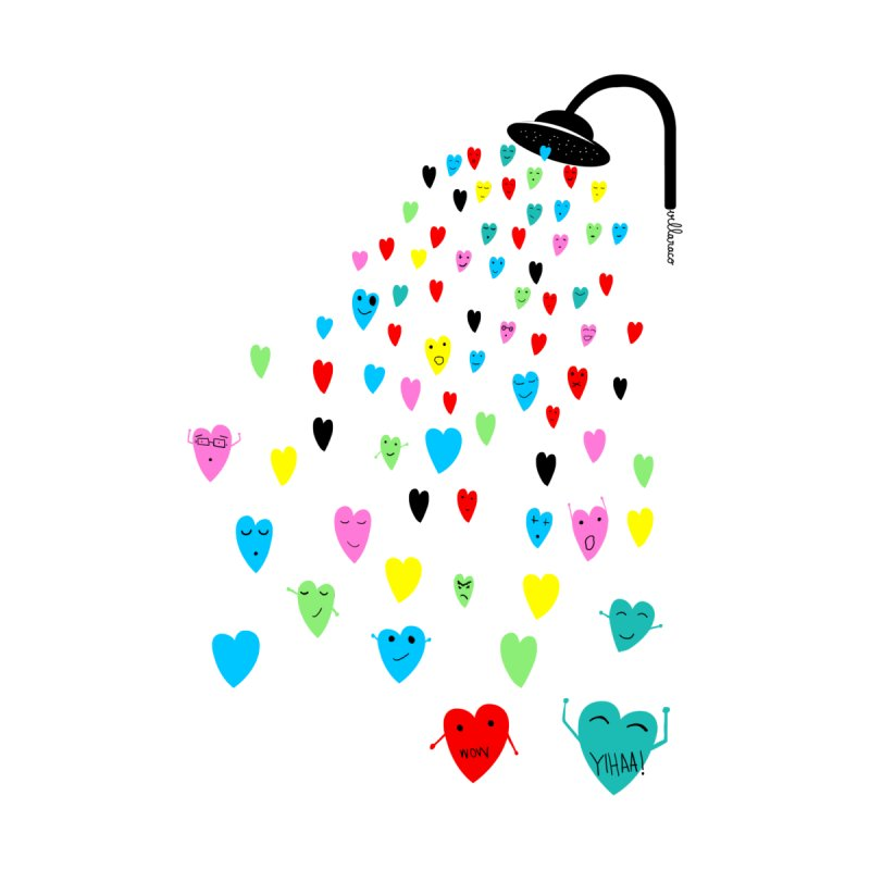Love Shower Accessories Beach Towel by villaraco's Artist Shop