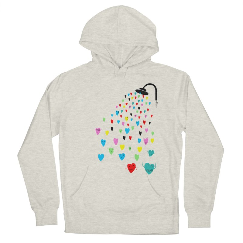 Love Shower Men's Pullover Hoody by villaraco's Artist Shop