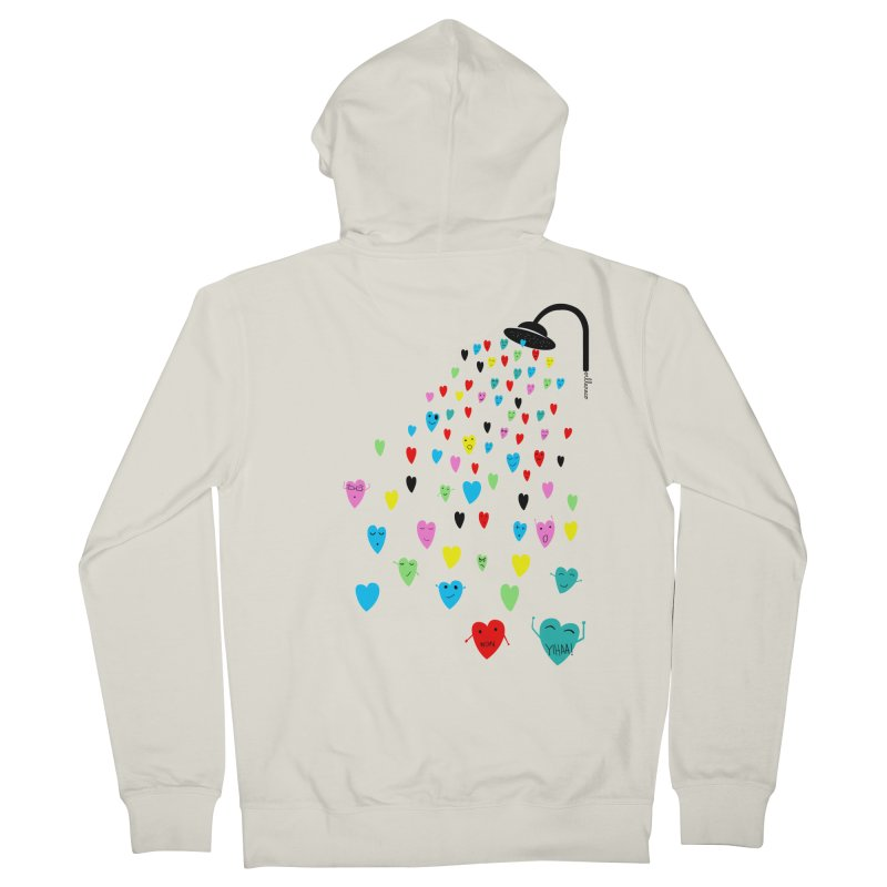 Love Shower Men's Zip-Up Hoody by villaraco's Artist Shop