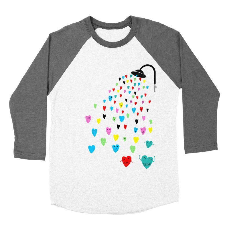 Love Shower Women's Baseball Triblend Longsleeve T-Shirt by villaraco's Artist Shop