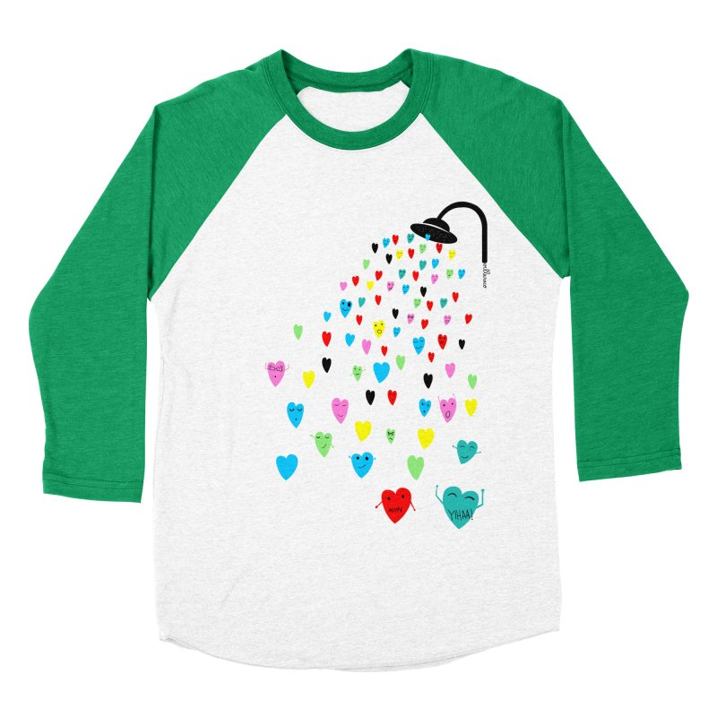 Love Shower Men's Baseball Triblend Longsleeve T-Shirt by villaraco's Artist Shop