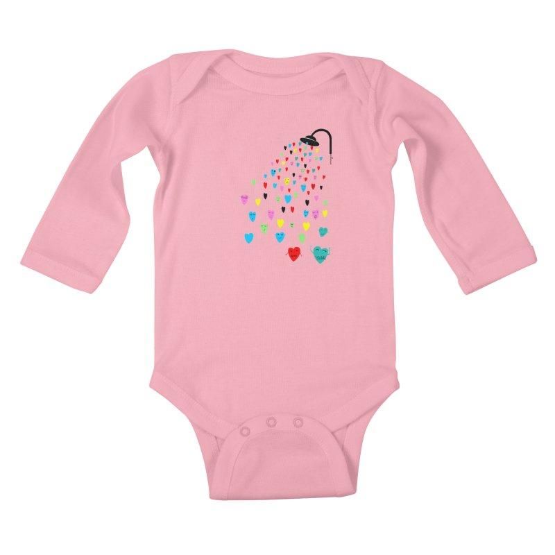 Love Shower Kids Baby Longsleeve Bodysuit by villaraco's Artist Shop