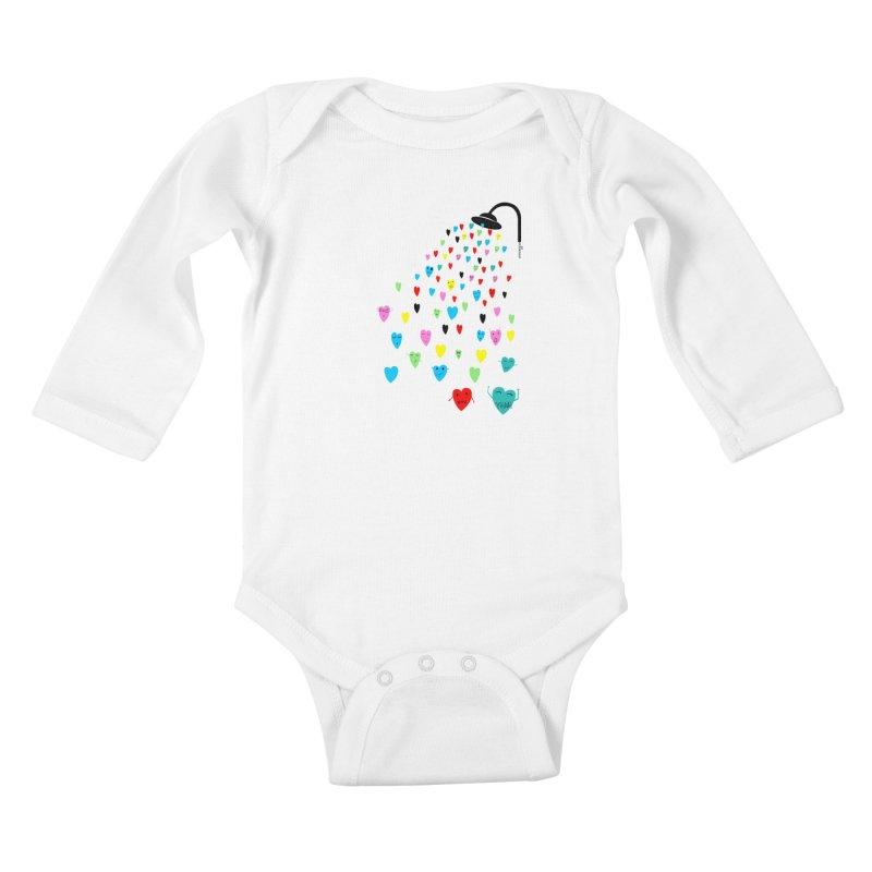 Love Shower Kids Baby Longsleeve Bodysuit by villaraco's Artist Shop