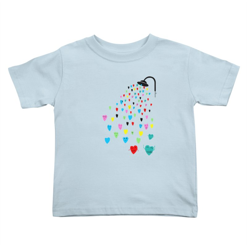 Love Shower Kids Toddler T-Shirt by villaraco's Artist Shop