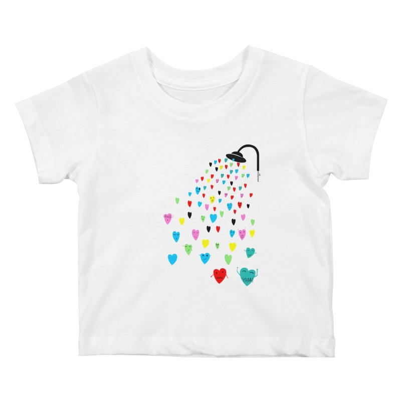 Love Shower Kids Baby T-Shirt by villaraco's Artist Shop
