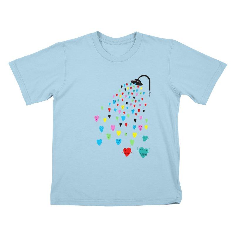 Love Shower Kids T-Shirt by villaraco's Artist Shop