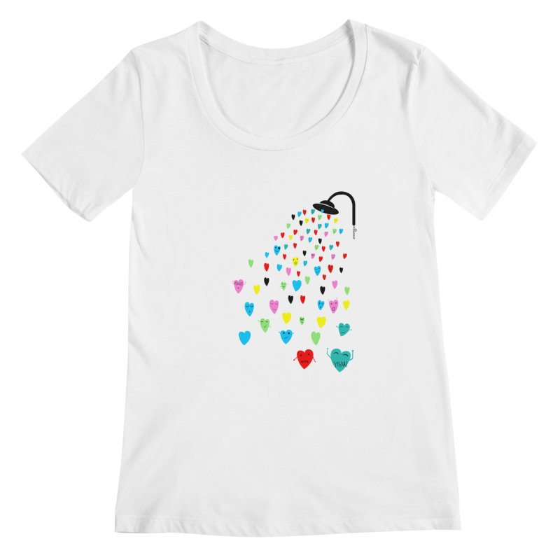 Love Shower Women's Scoopneck by villaraco's Artist Shop