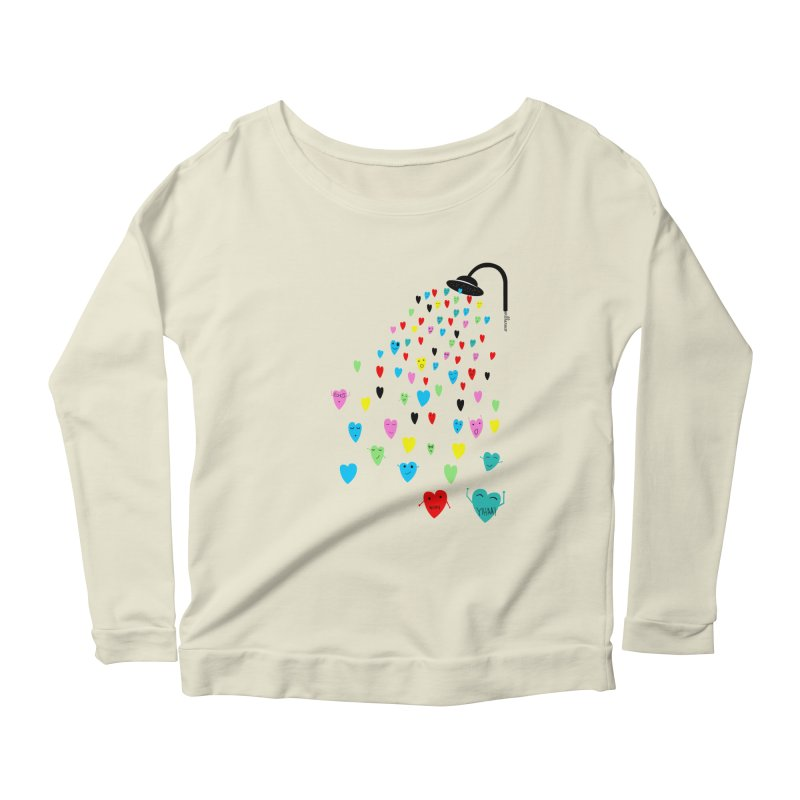 Love Shower Women's Scoop Neck Longsleeve T-Shirt by villaraco's Artist Shop