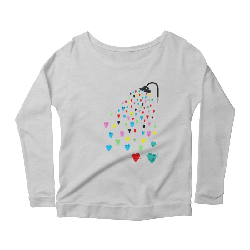 Love Shower Women's Longsleeve Scoopneck  by villaraco's Artist Shop