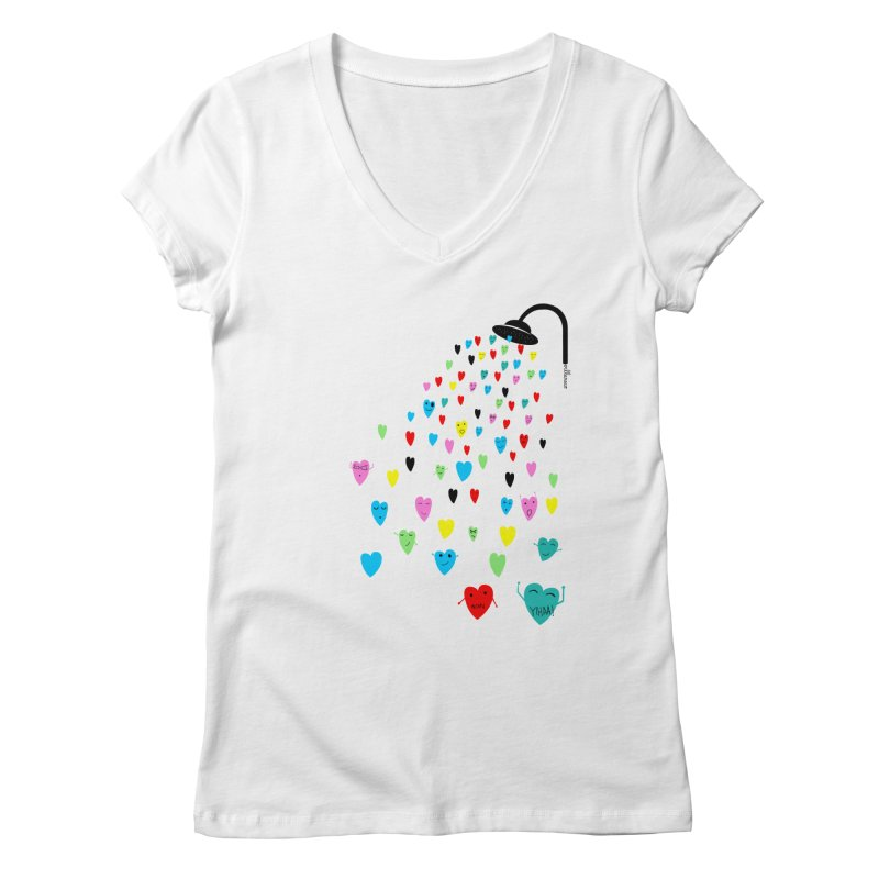 Love Shower Women's Regular V-Neck by villaraco's Artist Shop