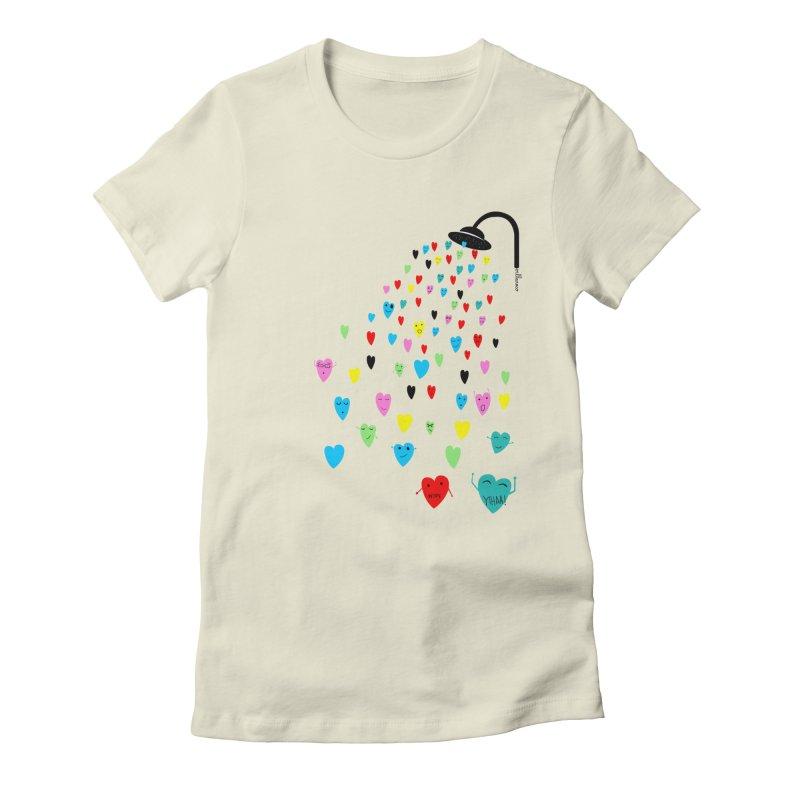 Love Shower Women's Fitted T-Shirt by villaraco's Artist Shop