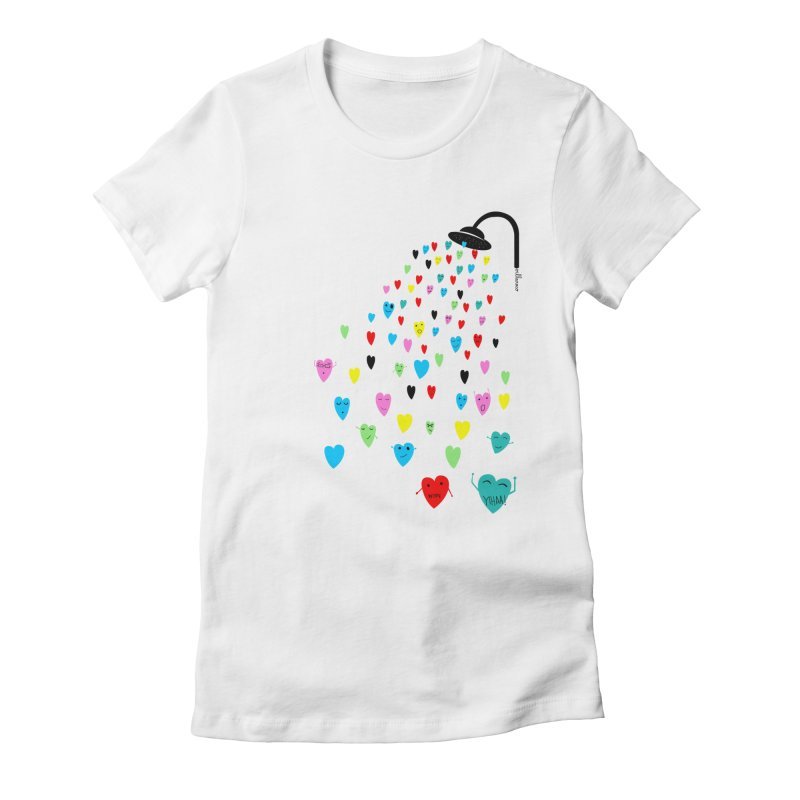 Love Shower Women's Fitted T-Shirt by villaraco's Artist Shop